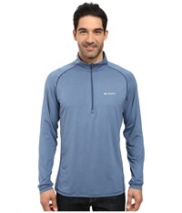 Columbia Tuk Mountain Half Zip Night Tide Heather Men's Long Sleeve Pullover Blue