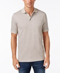 Tasso Elba Men's Houndstooth Polo Only At Macy's Ash Tan Combo