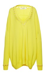 Givenchy Cashmere Wool And Silk Blend Sweater Yellow
