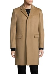 Burberry Hawksley Wool And Cashmere Overcoat Camel