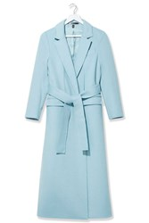 Cashmere Wrap Coat By Boutique Pale Blue