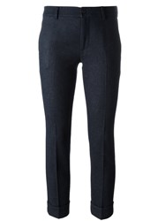 L'autre Chose Slim Chino Trousers Blue