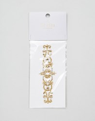 Orelia Elaborate Crystal Arm Band Gold