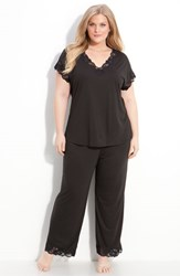 Natori Plus Size Women's 'Zen Floral' Pajamas Black