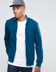 New Look Track Jacket In Teal Teal Blue