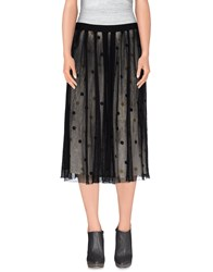Jucca Skirts 3 4 Length Skirts Women Black