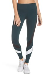 Splits59 Venice Leggings Dark Forest Black Off White
