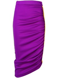 Pinko Asymmetrical Pencil Skirt Pink And Purple