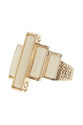 House Of Harlow Long Rains Resin Ring Size 6 Beige