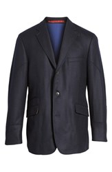 Kroon Men's Ritchie Aim Hybrid Classic Fit Wool And Cashmere Sport Coat Navy