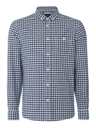 Criminal Men's Denver Oxford Gingham Long Sleeve Shirt Indigo