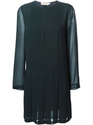 Tory Burch Sheer Sleeve Dress Green