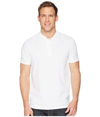 Perry Ellis Stretch Solid Jacquard Henley Bright White Clothing