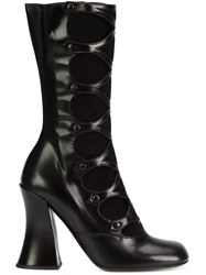 Marc Jacobs Cut Out Effect Boots Black