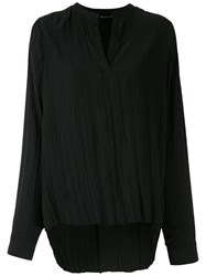 Uma Raquel Davidowicz Wrinkled Effect Box Shirt Black