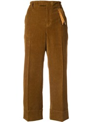 The Gigi Corduroy Cropped Trousers Brown