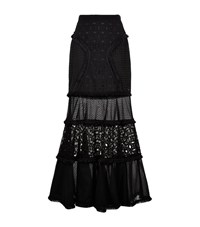Andrew Gn Tiered Maxi Skirt Female Black