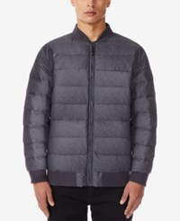 32 Degrees Men's Packable Bomber Jacket Iron Melange