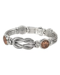 Konstantino Men's Sterling Silver And Copper Coin Bracelet