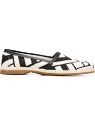 Dolce And Gabbana Geometric Print Espadrilles Black