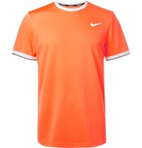 Nike Tennis Nikecourt Dry Dri Fit Mesh T Shirt Bright Orange
