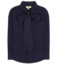 Burberry Lobelia Cotton Shirt Blue