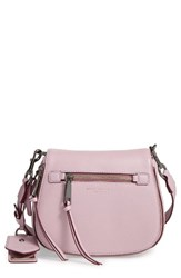 Marc Jacobs Small Recruit Nomad Pebbled Leather Crossbody Bag Purple Pale Lilac