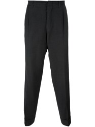 Romeo Gigli Vintage Pinstripe Tapered Trousers Grey
