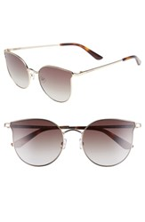 Juicy Couture 56Mm Metal Cat Eye Sunglasses Light Gold