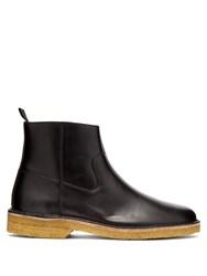 A.P.C. Timothe Leather Boots Black