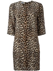 Equipment Leopard Print Dress Black