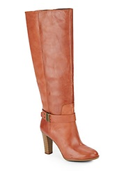 Enzo Angiolini Sumilo Leather Tall Boots Cognac