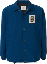 Kent And Curwen Jersey Lined Jacket Blue