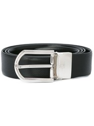 Ermenegildo Zegna Embossed Belt Men Calf Leather 110 Black