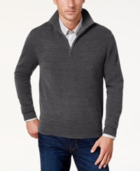 Weatherproof Vintage Men's Soft Touch Quarter Zip Sweater Gray