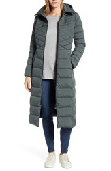 Bernardo Quilted Long Coat With Down And Primaloft Fill Dark Moss