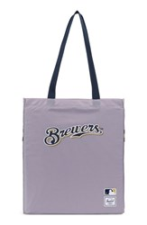 Herschel Supply Co. Packable Mlb National League Tote Bag Grey Milwaukee Brewers