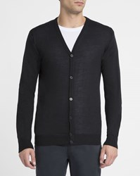 M.Studio Black Jo Wool Blend Cardigan
