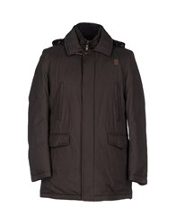 Piero Guidi Down Jackets Dark Brown