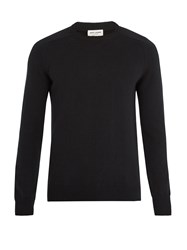 Saint Laurent Crew Neck Cashmere Sweater Black