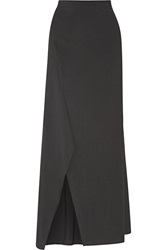 Brunello Cucinelli Wool Blend Maxi Skirt Gray