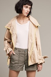 Anthropologie Lemon Lined Trench Beige