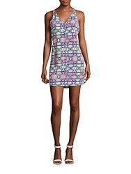 Amanda Uprichard Malibu Printed Racerback Dress Multicolor