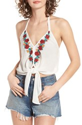 Band Of Gypsies Women's Embroidered Halter Top