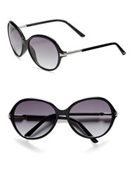 Vince Camuto 69.8Mm Oversized Round Sunglasses Black