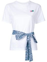 Fleamadonna Ribbon Detail T Shirt White