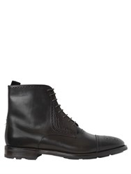 Fratelli Rossetti Brogue Brushed Leather Lace Up Boots