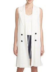 1.State Double Breasted Trench Vest White