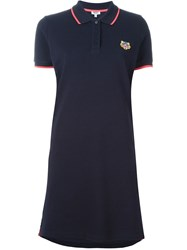 Kenzo 'Tiger' Polo Dress Blue