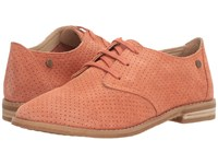 Hush Puppies Aiden Clever Coral Suede Perf Women's Slip On Dress Shoes Brown